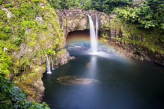 Rainbow Falls Hawaii Stock Photo