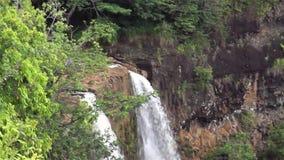 Rainbow Falls at Kauai, Hawaii stock video