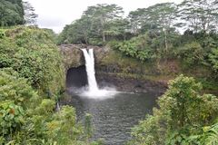 Rainow Falls Hawaii stock images