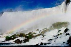 Rainbow in the falls at Niagara. A small rainbow in the falls at Niagara NY Royalty Free Stock Photos