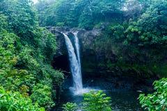 Rainbow Falls. Waterfall located at Rainbow Falls in Hilo,Big Island of Hawaii Royalty Free Stock Photos