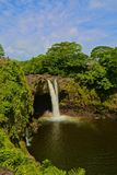 Rainbow falls waterfalls Hawaii Stock Image
