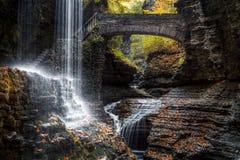 Rainbow Falls. At Watkins Glen State Park, NY Stock Image
