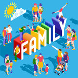 Rainbow Family People Isometric Royalty Free Stock Images