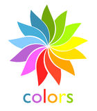 Rainbow fan. Colorful rainbow fan symbol. vector illustration Royalty Free Stock Image