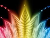 Rainbow fan. Rainbow Coloured Fractal Fan Pattern Royalty Free Stock Image