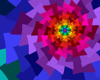 Rainbow Fans. Overlapping spiral of fans in rainbow colors Royalty Free Stock Images
