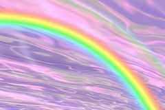 Rainbow fantasy!. Purple sky with rainbow stock illustration
