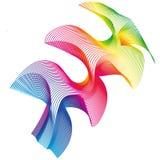 Rainbow fantasy. Rainbow colored arrow-like fantasy Stock Images