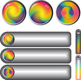 Rainbow fantasy web buttons Stock Image