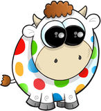 Rainbow Farm Cow Vector Royalty Free Stock Photo