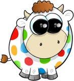 Rainbow Farm Cow Vector Royalty Free Stock Photo