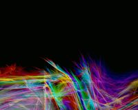 Rainbow feathers. Abstraction background Royalty Free Stock Photography