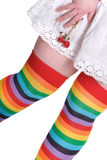 Rainbow Female Knee Stockings Royalty Free Stock Photos