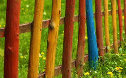 Rainbow fence Royalty Free Stock Photography