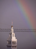Rainbow & Ferry Building Stock Images