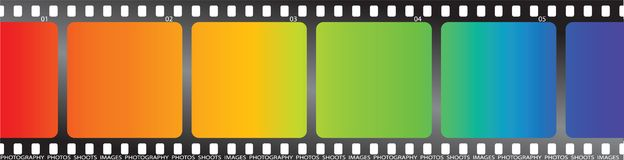 Rainbow film Royalty Free Stock Photo