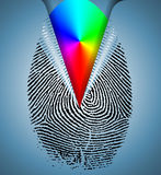 Rainbow Fingerprint. High Resolution Illustration Rainbow Fingerprint Stock Images