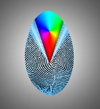 Rainbow Fingerprint vector illustration