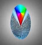 Rainbow Fingerprint. Composition. 3D rendering Stock Photo