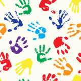 Rainbow fingerprints. EPS 10 vector multicolored  fingerprints with the colors of rainbow Royalty Free Stock Image