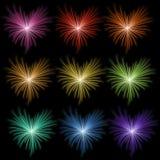 Rainbow firework Stock Image