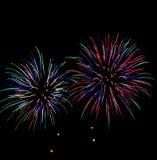 Rainbow firework. In the Thai night fastival Royalty Free Stock Photos