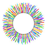 Rainbow fireworks background Stock Photography