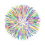 Rainbow fireworks on white background. Vector illustration. eps 8 Stock Images