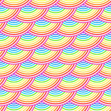 Rainbow fish scales vector seamless pattern Royalty Free Stock Photography