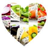 Rainbow Fitness Heart Stock Photos