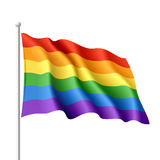 Rainbow flag. Vector illustration of a rainbow flag