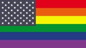 Rainbow flag Stock Images
