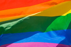 Rainbow Flag. A colorful, abstract, rainbow flag. A metaphor for pride and unity Stock Photo