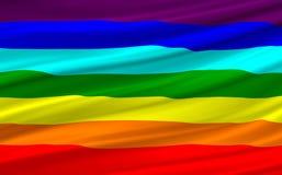 Rainbow flag. Computer generated rainbow flag waving Royalty Free Illustration