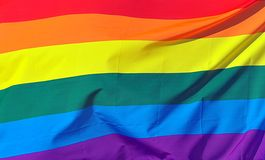 Rainbow Flag Background Stock Photo