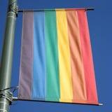 Rainbow flag Castro Stock Images