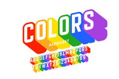 Rainbow flag colors font. Vector illustration vector illustration