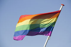 Rainbow Flag on Coming Out Day Stock Photo