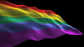 Rainbow flag stock video footage
