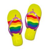 Rainbow Flag Flip Flops Vector Illustration Stock Photography