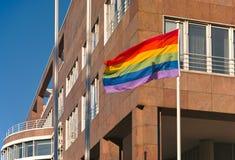 Rainbow Flag. At Friedensplatz in Dortmund, Germany Stock Photography