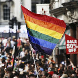 Rainbow flag, Gay Pride, London Royalty Free Stock Photos