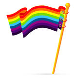 The rainbow flag Royalty Free Stock Images