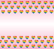 Rainbow flag. LGBT gay pride sign. rainbow heart vector and background Stock Image