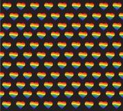Rainbow flag. LGBT gay pride sign. rainbow heart vector and background Stock Photos