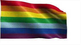 Rainbow flag LGBT movement - LOOP Royalty Free Stock Photography