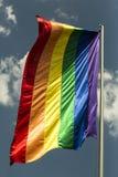 Rainbow flag symbol of gay culture. Rainbow flag - LGBT symbol - for gay, lesbian, bisexual or transgender royalty free stock photos