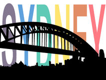Rainbow flag Sydney illustration Stock Photo