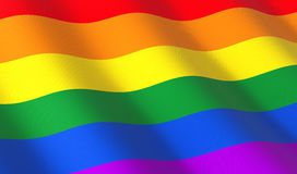 Rainbow flag only Royalty Free Stock Photo